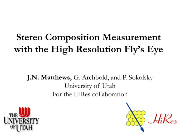 stereo composition measurement with the high resolution fly s eye