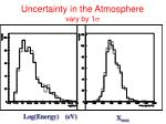 uncertainty in the atmosphere vary by 1 s