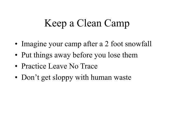 Keep a Clean Camp