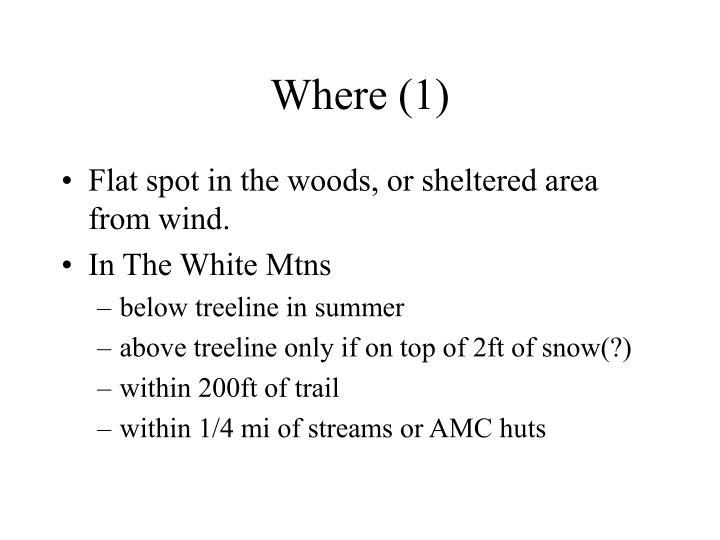 Where (1)