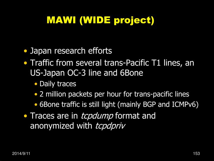 MAWI (WIDE project)