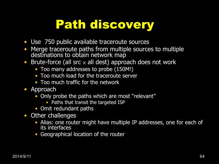 Path discovery