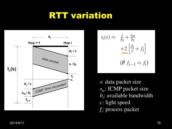RTT variation