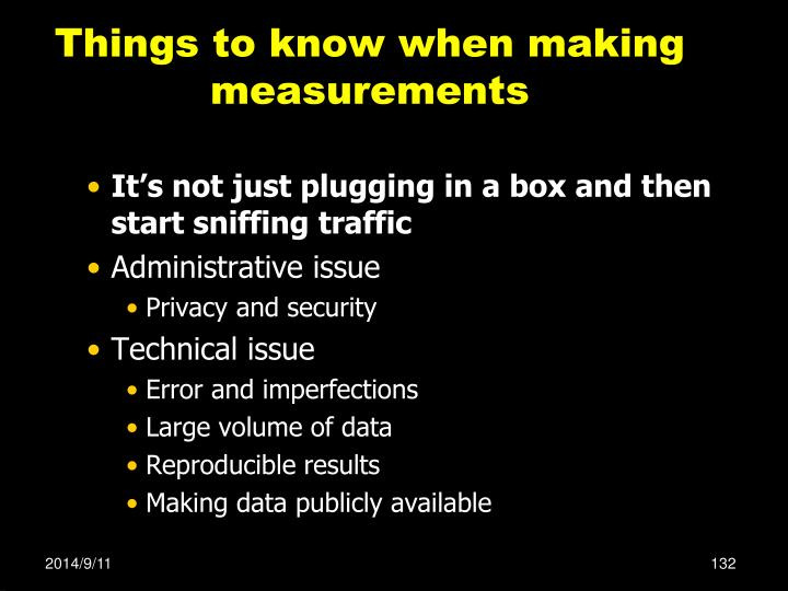 Things to know when making measurements