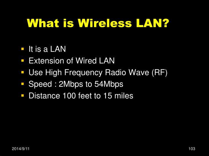 What is Wireless LAN?