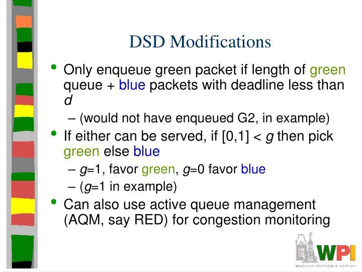 DSD Modifications
