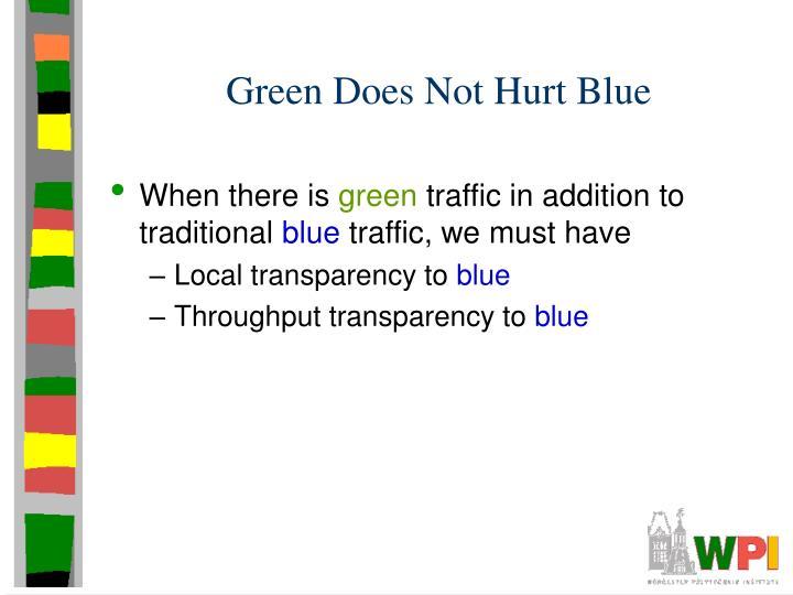 Green Does Not Hurt Blue