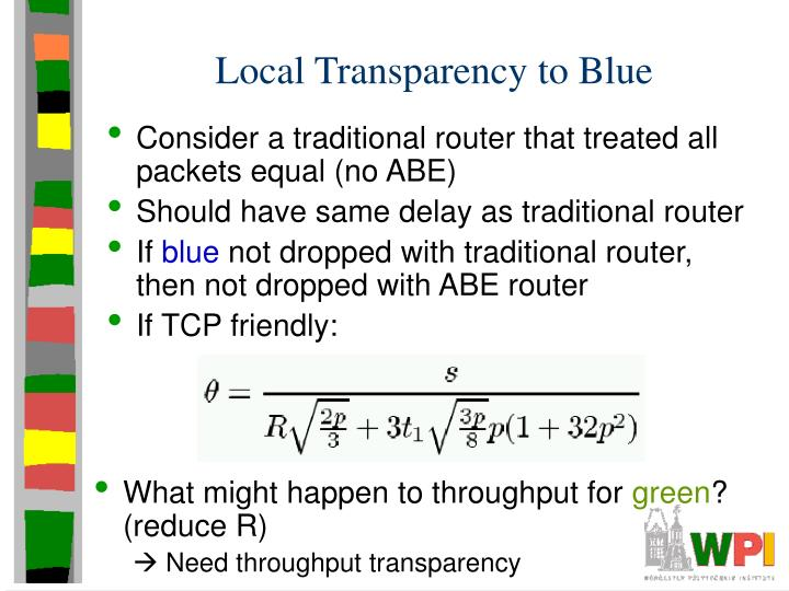 Local Transparency to Blue