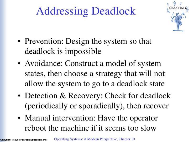 Addressing Deadlock