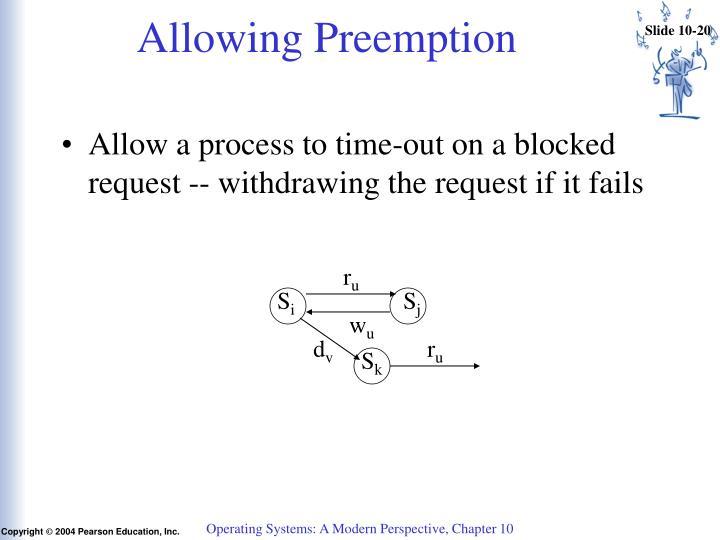 Allowing Preemption