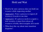 hold and wait