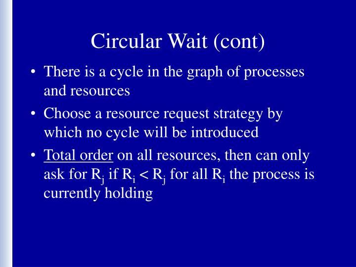 Circular Wait (cont)
