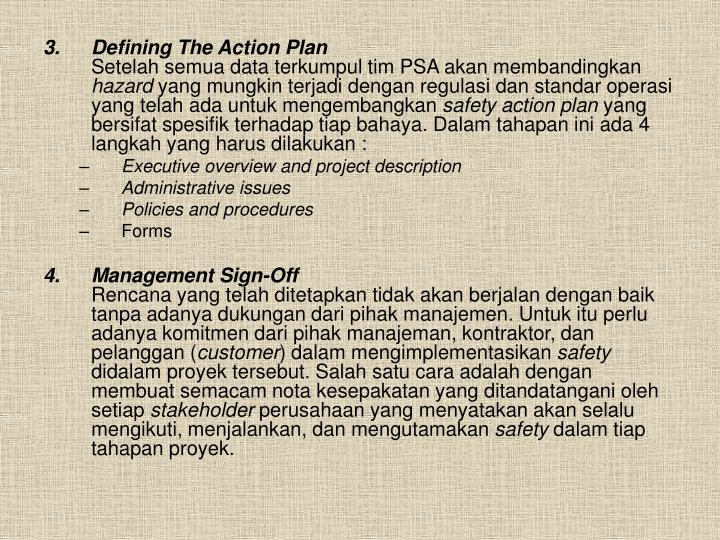 Defining The Action Plan