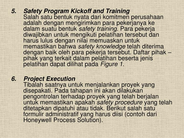 Safety Program Kickoff and Training