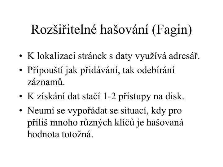 Rozšiřitelné hašování (Fagin)