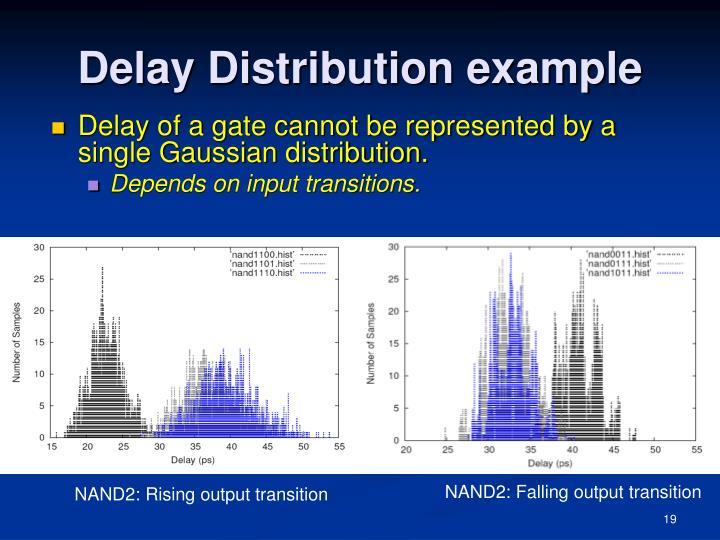 Delay Distribution example