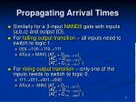 propagating arrival times5