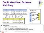 duplicate driven schema matching1