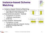 instance based schema matching