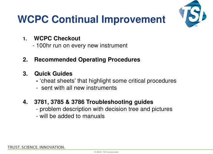WCPC Continual Improvement