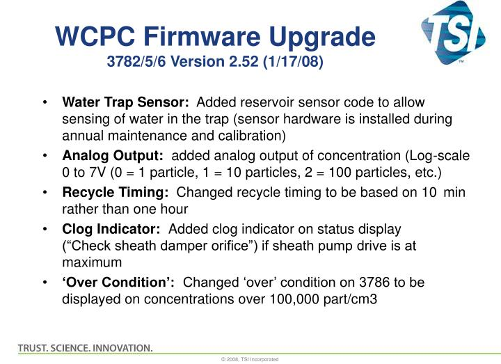 WCPC Firmware Upgrade