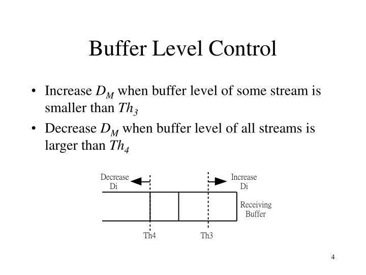 Buffer Level Control