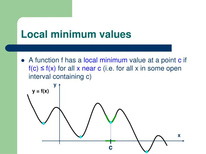 Local minimum values