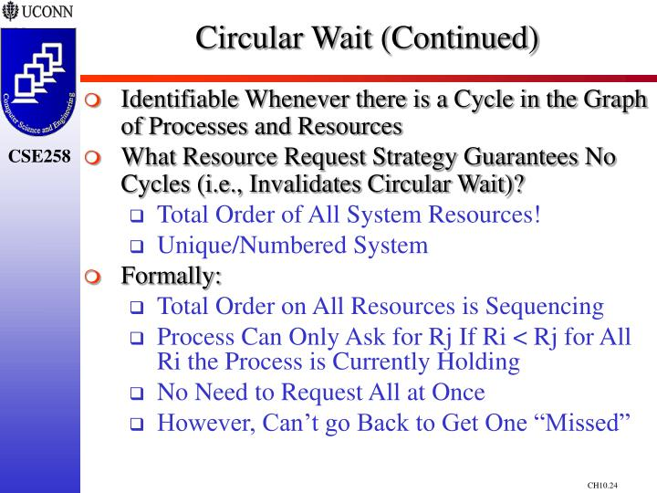 Circular Wait (Continued)