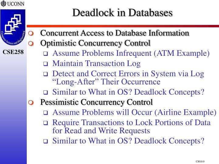 Deadlock in Databases