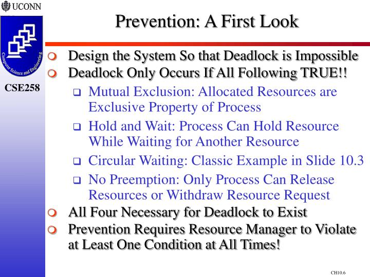 Prevention: A First Look