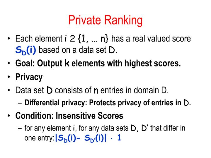 Private Ranking
