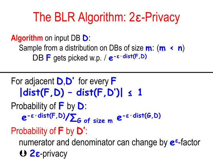 The BLR Algorithm: 2