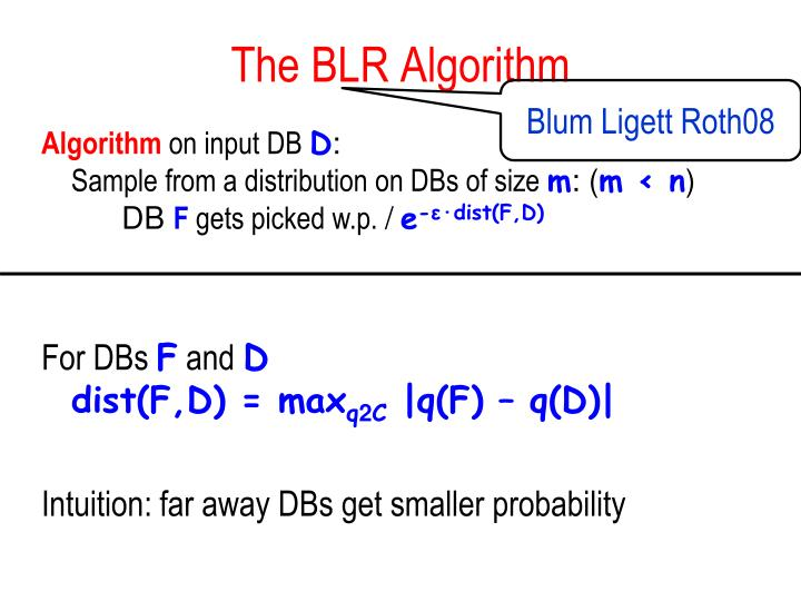 The BLR Algorithm