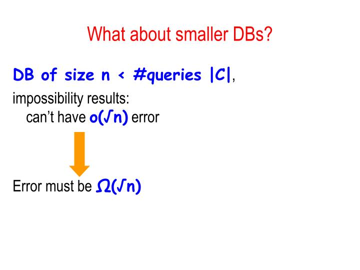 What about smaller DBs?