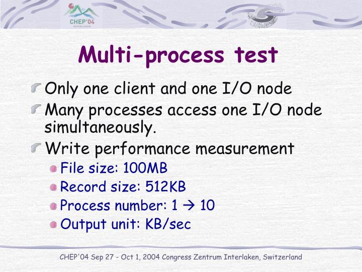 Multi-process test