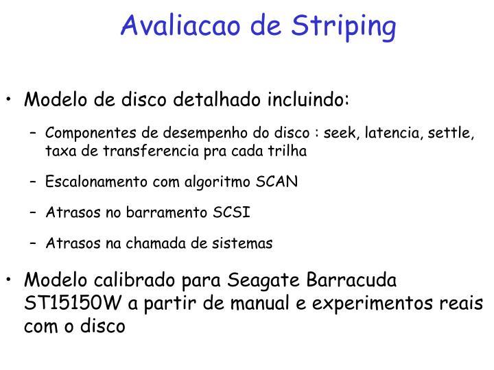 Avaliacao de Striping