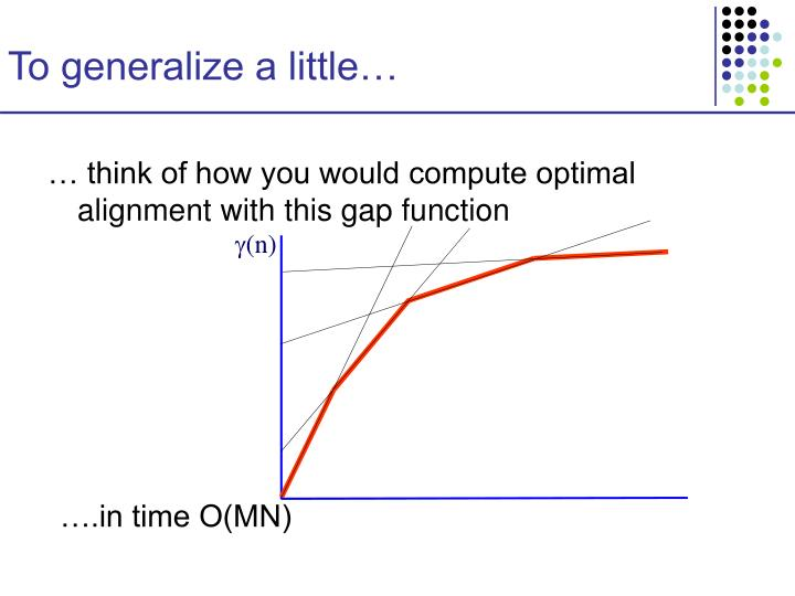To generalize a little…