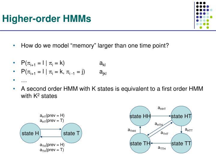 Higher-order HMMs