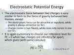 electrostatic potential energy