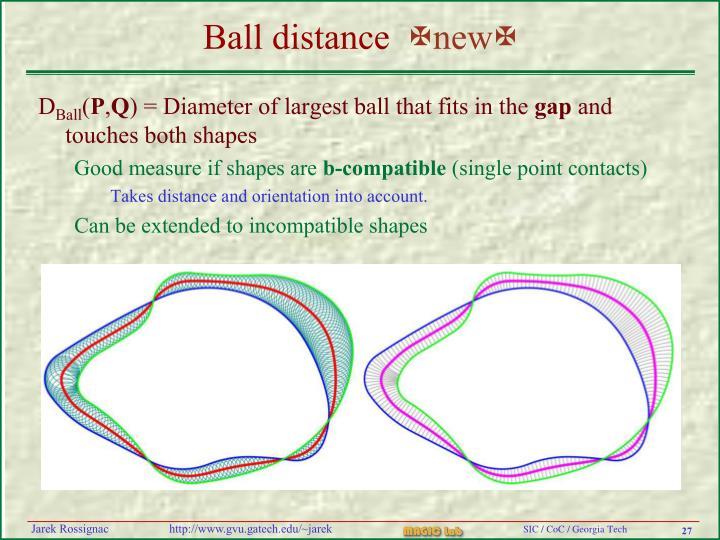 Ball distance