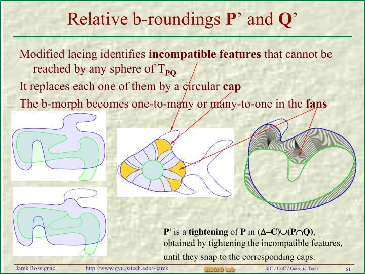 Relative b-roundings