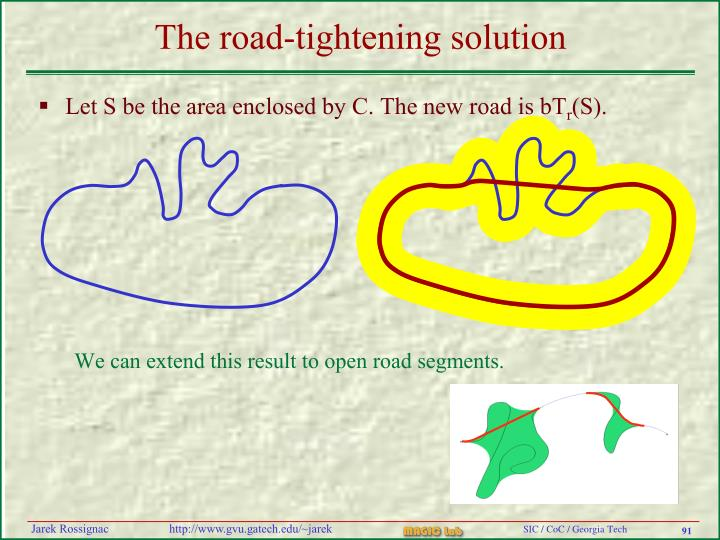 The road-tightening solution
