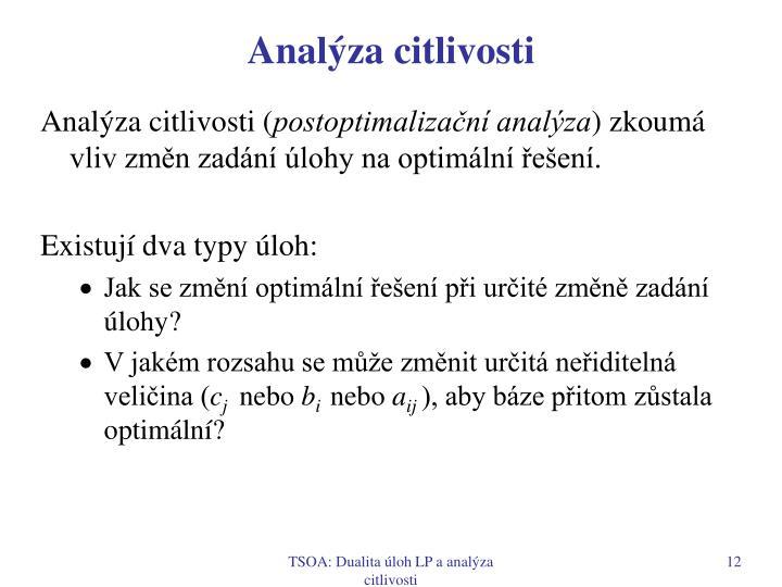 Analýza citlivosti