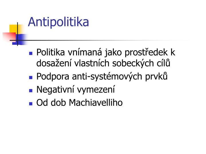 Antipolitika