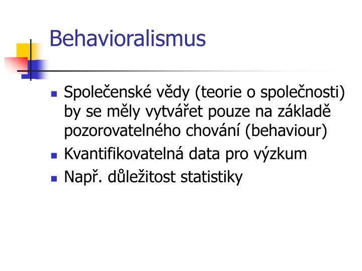Behavioralismus