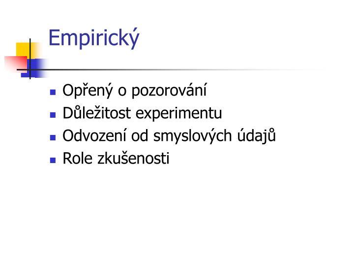 Empirický
