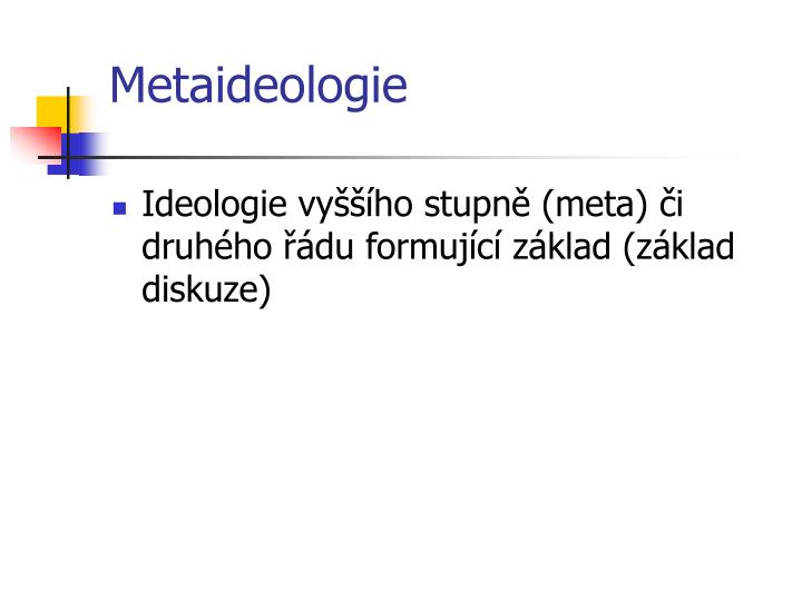 Metaideologie