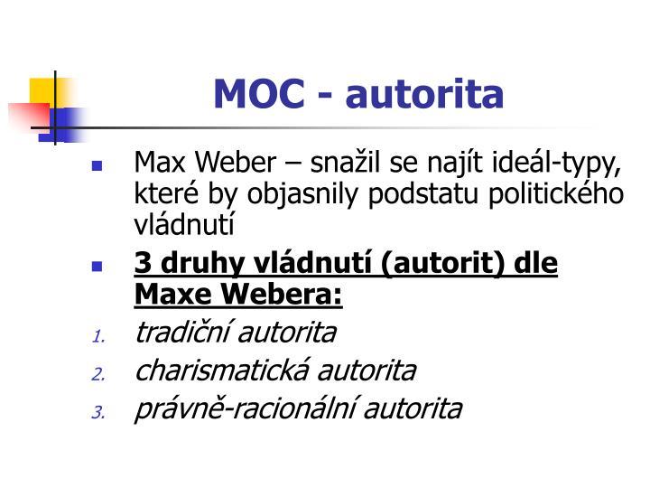 MOC - autorita