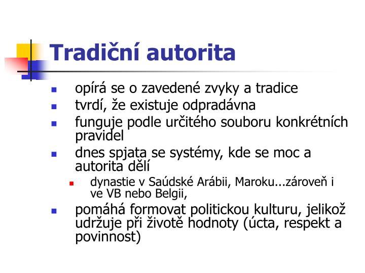 Tradiční autorita