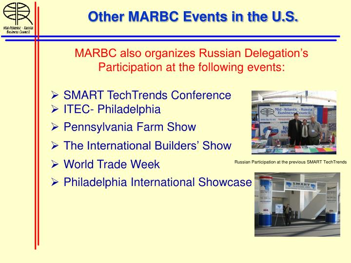 Other MARBC Events in the U.S.